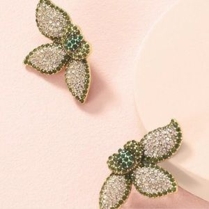 Stella & Dot petal pave earrings